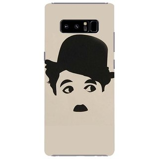 Samsung Galaxy note 8 Black Hard Printed Case Cover by HACHI - Charlie Chaplin Fans design