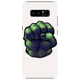 Samsung Galaxy note 8 Black Hard Printed Case Cover by HACHI - Hulk design