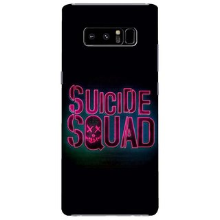 Samsung Galaxy note 8 Black Hard Printed Case Cover by HACHI - Sucide Squad Ffans design