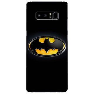 Samsung Galaxy note 8 Black Hard Printed Case Cover by HACHI - Batman Fans design