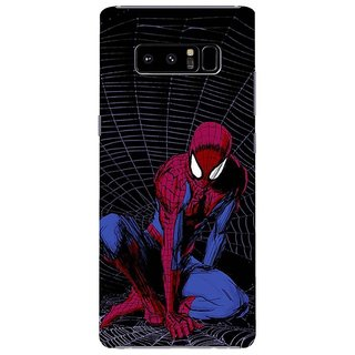 Samsung Galaxy note 8 Black Hard Printed Case Cover by HACHI - Spiderman Fans design