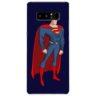 Samsung Galaxy note 8 Black Hard Printed Case Cover by HACHI - Superman Fans design