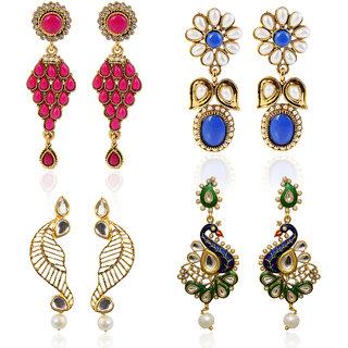 Meia Gold Plated Designer 4 Earrings For Women