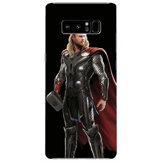 Samsung Galaxy note 8 Black Hard Printed Case Cover by HACHI - Thor Fans design