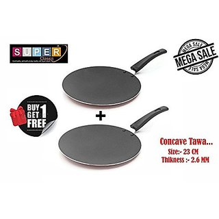 Classic Cookware Non-Stick 23 cm Concave Tawa Buy 1 Get 1 Free Offer