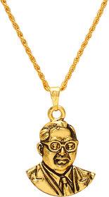 Memoir Brass Gold Ambedkar chain pendant