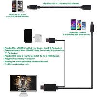 MHL Kit Universal MHL Micro USB To HDMI Cable 6.5 Feet