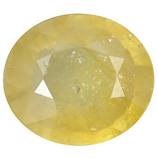 Ratna Gemstone  7.00 Carat Natural Certified Yellow Sapphire (Pukhraj) Gemstone