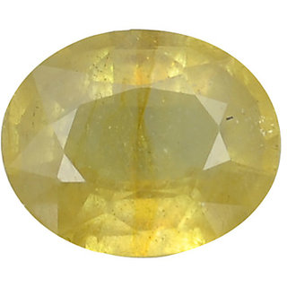 Ratna Gemstone  5.00 Carat Natural Certified Yellow Sapphire (Pukhraj) Gemstone