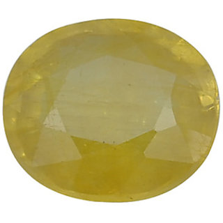 Ratna Gemstone  8.00 Carat Natural Certified Yellow Sapphire (Pukhraj) Gemstone