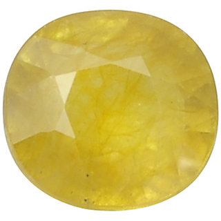 Ratna Gemstone  6.00 Carat Natural Certified Yellow Sapphire (Pukhraj) Gemstone