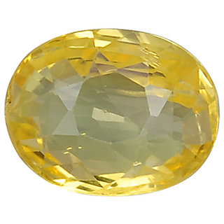 Ratna Gemstone  6.25 Carat Natural Certified Yellow Sapphire (Pukhraj) Gemstone