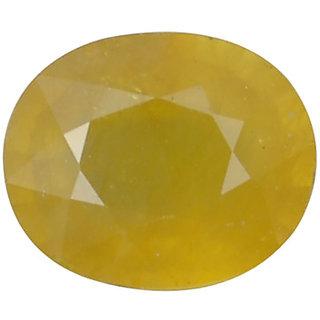 Ratna Gemstone  6.25 Carat Natural Certified Yellow Sapphire (Pukhraj) Gemstone