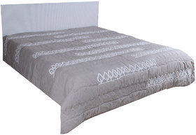 Kalakriti Premium Quilts Gray & White color in Standard  Size