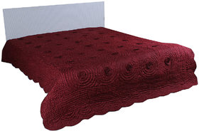 Kalakriti Premium Quilts Maroon color in Standard Size