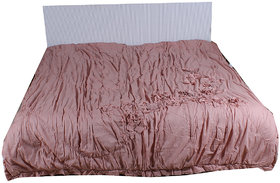 Kalakriti Premium Quilts Baby Pink color in Standard Size