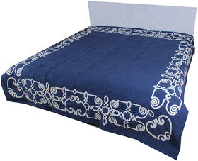 Kalakriti Premium Quilts Blue color in Standard  Size