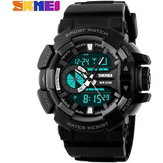 SKMEI Analog-Digital Black Dial Mens Watch