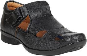 Marco Ferro Men's Black Slip On Smart Casual Shoes