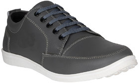 Marco Ferro Men's Grey Lace-up Smart Casual Shoes