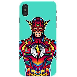 Iphone x Black Hard Printed Case Cover by HACHI - Flash Fans design