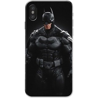 Iphone x Black Hard Printed Case Cover by HACHI - Batman Fans design