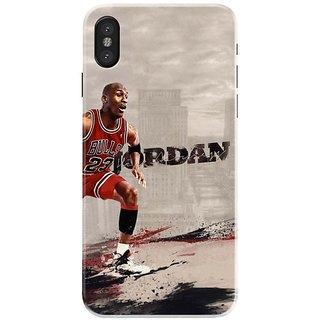 Iphone x Black Hard Printed Case Cover by HACHI - Jordan Fans design