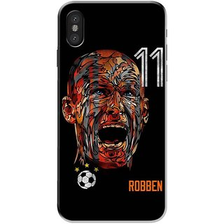 Iphone x Black Hard Printed Case Cover by HACHI - Rovven Fans design