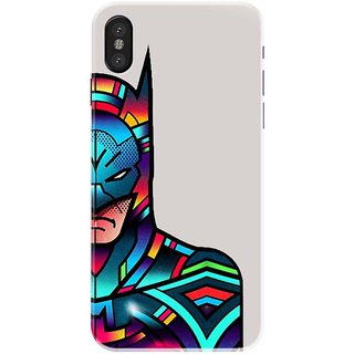 Iphone x Black Hard Printed Case Cover by HACHI - Batman Fans design