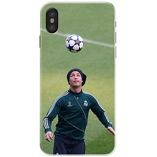 Iphone x Black Hard Printed Case Cover by HACHI - Ronaldo Football Fans design