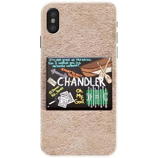 Iphone x Black Hard Printed Case Cover by HACHI - FRIENDS Fans design