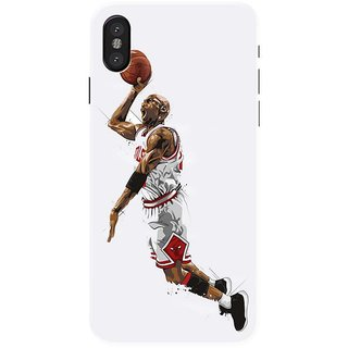 Iphone x Black Hard Printed Case Cover by HACHI - Jordan Fans design