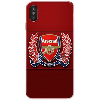 Iphone x Black Hard Printed Case Cover by HACHI - Football club design