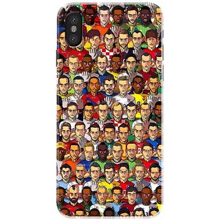Iphone x Black Hard Printed Case Cover by HACHI - Football Fans design