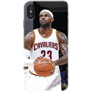 Iphone x Black Hard Printed Case Cover by HACHI - Basketball Fans design