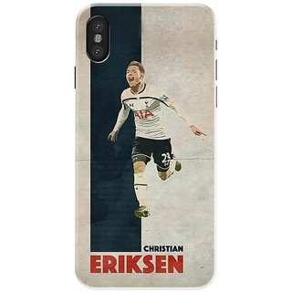 Iphone x Black Hard Printed Case Cover by HACHI - Eriksen Football Fans design