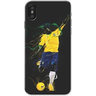 Iphone x Black Hard Printed Case Cover by HACHI - Neymar Football Fans design