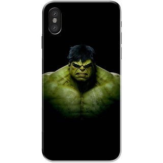 Iphone x Black Hard Printed Case Cover by HACHI - Hulk Fans design
