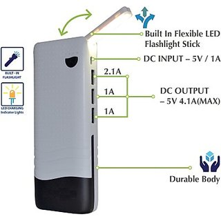 Hamine fast charge Desk Lamp 15000 MAh Power Bank (White black)