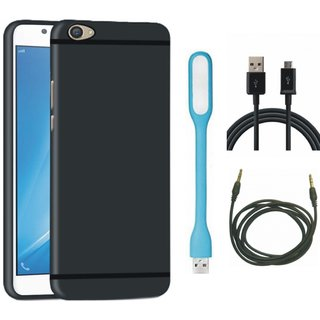 Redmi Y1 Soft Silicon Slim Fit Back Cover with USB LED Light, USB Cable and AUX Cable
