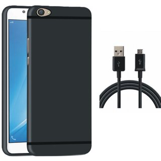Redmi Y1 Soft Silicon Slim Fit Back Cover with USB Cable