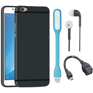 Redmi Y1 Soft Silicon Slim Fit Back Cover with Earphones, USB LED Light and OTG Cable