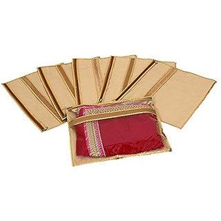 Kuber Industries trade; Single Packing Designer Saree Cover Set of 6 Pcs  Jute Design