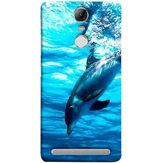 FUSON Designer Back Case Cover for Lenovo K5 Note :: Lenovo Vibe K5 Note Pro (Dark Blue Deepblue Sea Ocean Baby Dolphin)