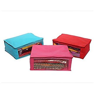 Kuber Industries trade; Non Woven Saree Cover 3 Pcs combo