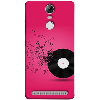 FUSON Designer Back Case Cover for Lenovo K5 Note :: Lenovo Vibe K5 Note Pro (Vinyl Disc With Music Notes Music Lover And Collector )
