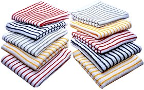 6pc stripe  kitchen towel set(45x70 cm) - multi color