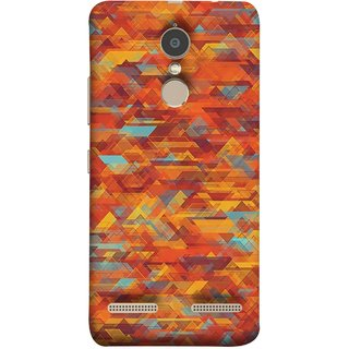 FUSON Designer Back Case Cover for Lenovo K6 (Geometric Watercolour Art Print Pink Bright)