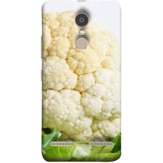FUSON Designer Back Case Cover for Lenovo K6 (Organic Cauliflower Background Table Farmer Subji)