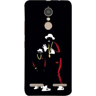 FUSON Designer Back Case Cover for Lenovo K6 (Ultraviolet Light White Shoes Posing Spects Gold )